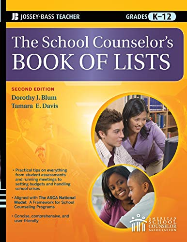 9780470450659: The School Counselor's Book of Lists