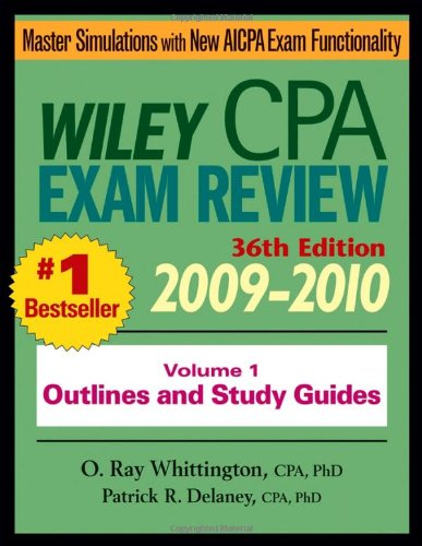 9780470453353: Wiley CPA Examination Review, Outlines and Study Guides (Volume 1)