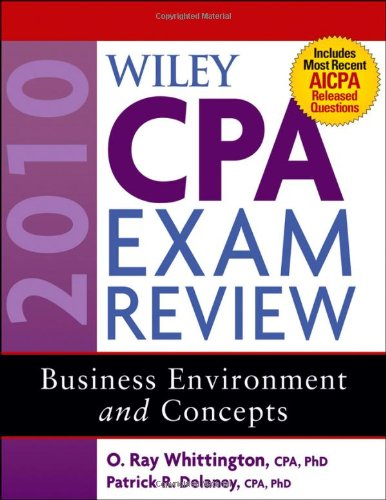 9780470453506: Wiley CPA Exam Review 2010, Business Environment and Concepts (Wiley CPA Examination Review: Business Environment & Concepts)