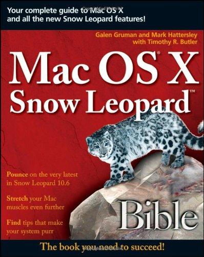 9780470453636: Mac OS X Snow Leopard Bible