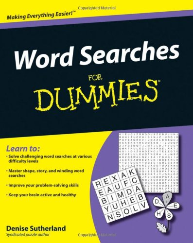9780470453667: Word Searches for Dummies
