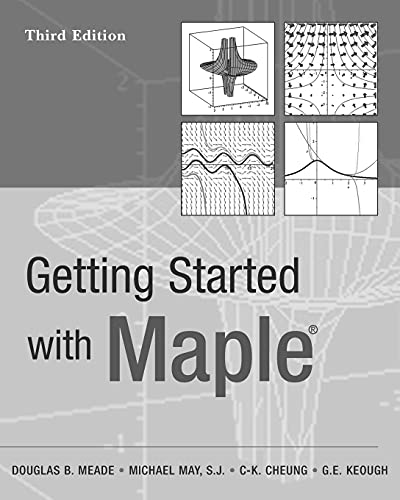 9780470455548: Getting Started with Maple