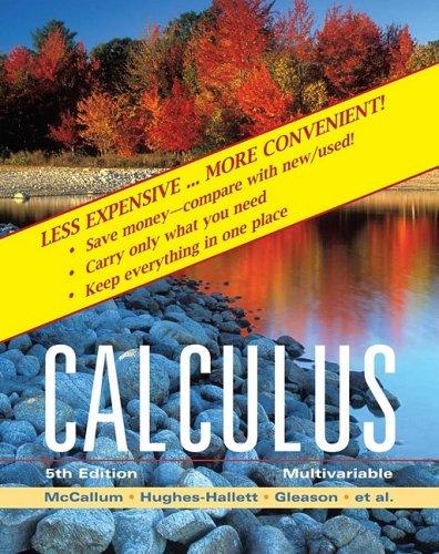 9780470455562: Multivariable Calculus