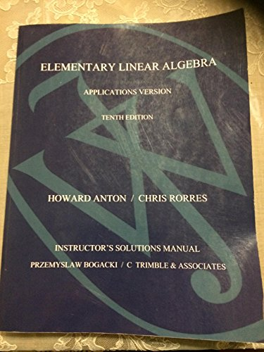 9780470458235: Elementary Linear Algebra: Student Solutions Manual