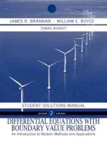 9780470458259: Differential Equations, Student Solutions Manual: An Introduction to Modern Methods and Applications