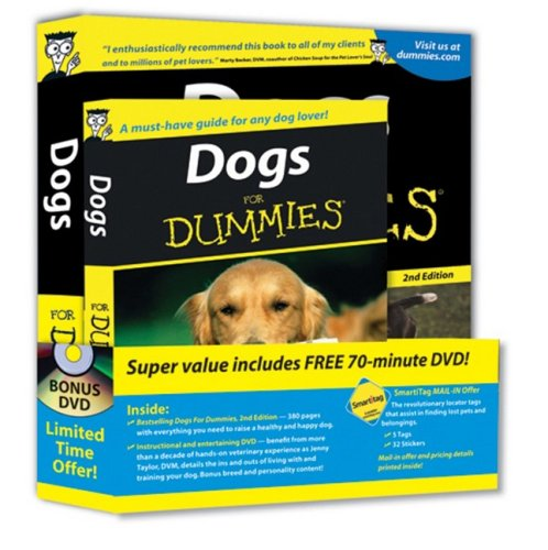 9780470461679: Dogs For Dummies, DVD Bundle