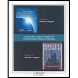 Financial Decision Making for Managers (Custom Textbook: Kidwell, James Jiambalvo