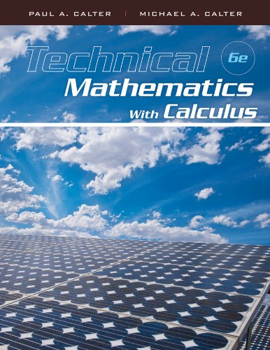 9780470464724: Technical Mathematics with Calculus