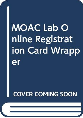 9780470466605: MOAC Virtual Lab Registration Card Wrapper
