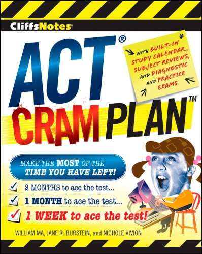 Stock image for CliffsNotes ACT Cram Plan (Cliffsnotes Cram Plan) for sale by Bayside Books