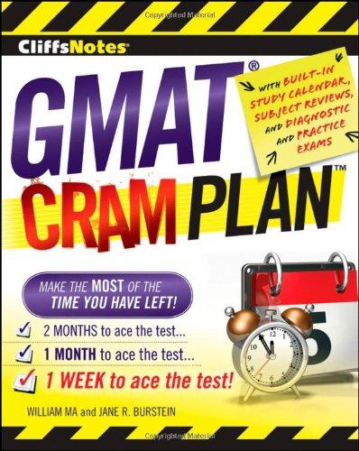 9780470471883: CliffsNotes GMAT Cram Plan (Cliffsnotes Cram Plan)