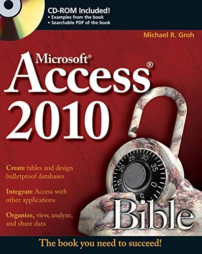 9780470475348: Access 2010 Bible