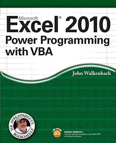 9780470475355: Excel 2010 Power Programming with VBA (Mr. Spreadsheet's Bookshelf)