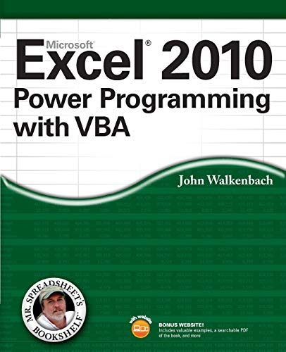 9780470475355: Excel 2010 Power Programming with VBA