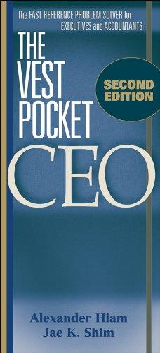 9780470482056: The Vest Pocket CEO