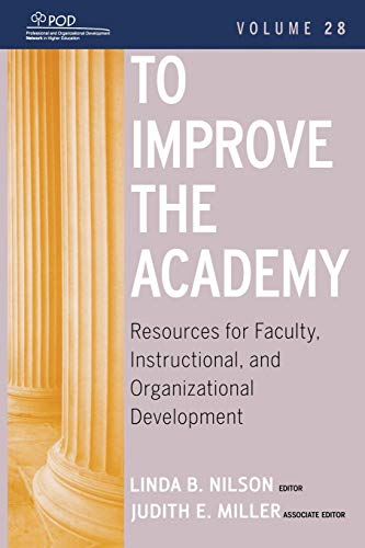 9780470484340: To Improve the Academy Vol 28 (JB-Anker)