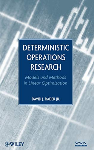 9780470484517: Deterministic Operations Research: Models and Methods in Linear Optimization