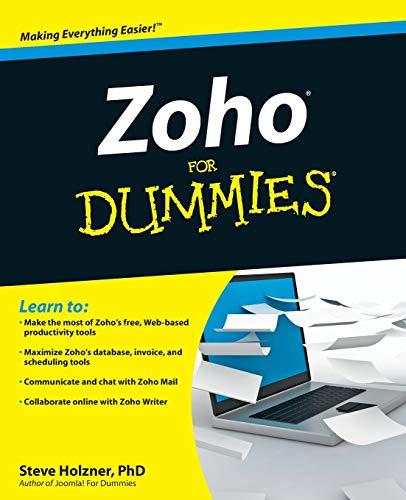 9780470484548: Zoho for Dummies