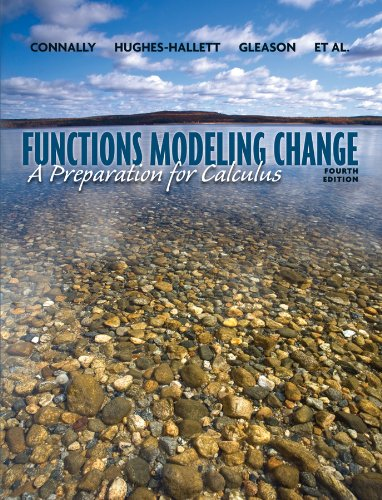 9780470484746: Functons Modeling Change: A Preparation for Calculus