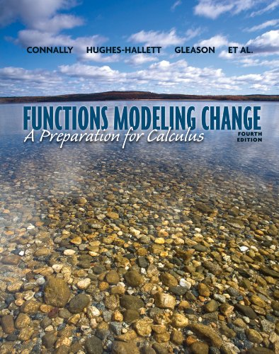 9780470484753: Functons Modeling Change: A Preparation for Calculus
