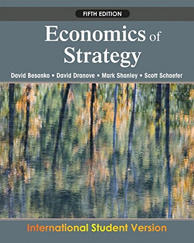 Economics of Strategy: Besanko, David; Dranove,