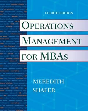 9780470485767: Operations Management for MBAs
