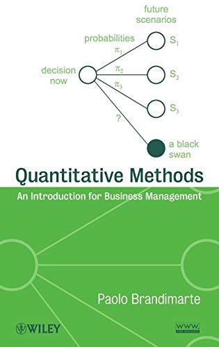 9780470496343: Quantitative Methods: An Introduction for Business Management