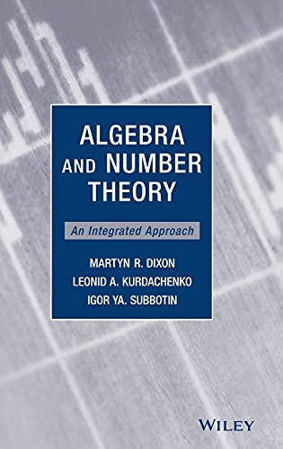 9780470496367: Algebra and Number Theory: An Integrated Approach