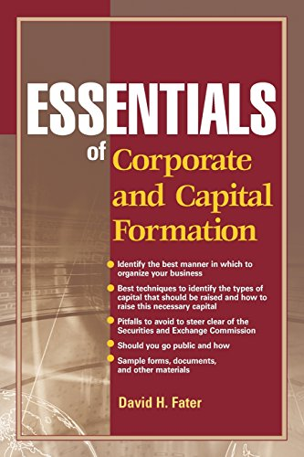 9780470496565: Essentials of Corporate and Capital Formation