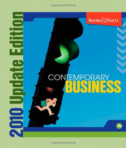 9780470496749: Contemporary Business 2010 Update [With CDROM]