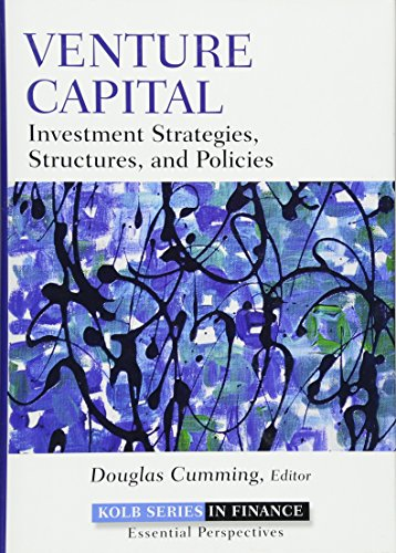 9780470499146: Venture Capital: Investment Strategies, Structures, and Policies