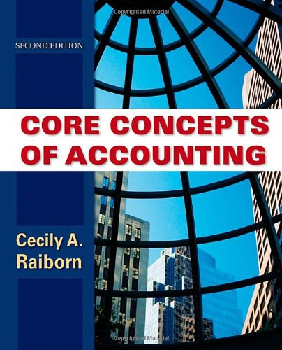 9780470499474: Core Concepts of Accounting