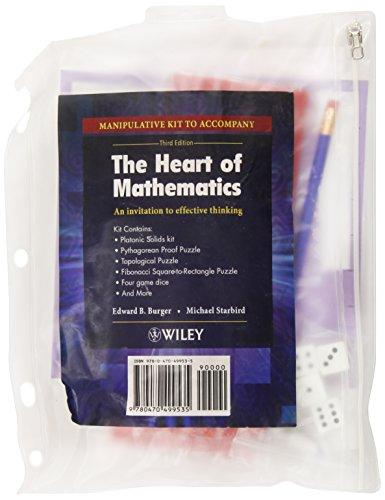 9780470499535: The Heart of Mathematics: An Invitation to Effective Thinking,  Manipulative Kit