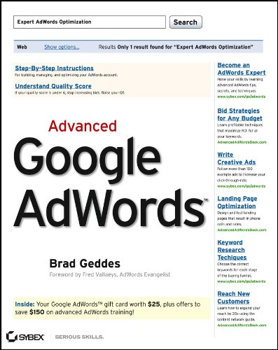 9780470500231: Advanced Google AdWords