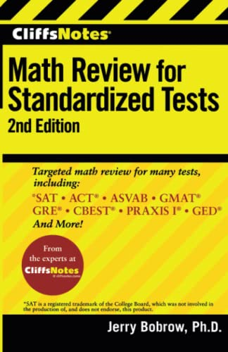9780470500774: CliffsNotes Math Review for Standardized Tests (Cliffs Test Prep Math Review Standardized)