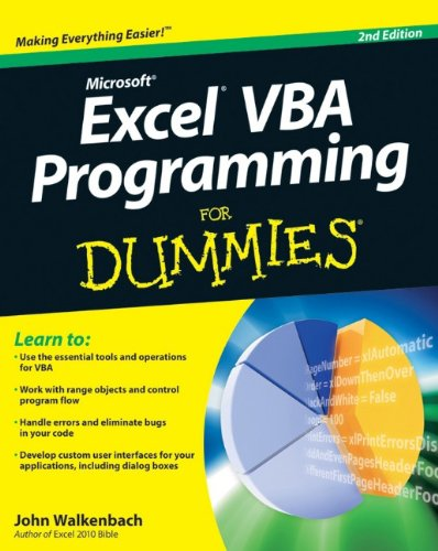9780470503690: Excel VBA Programming For Dummies