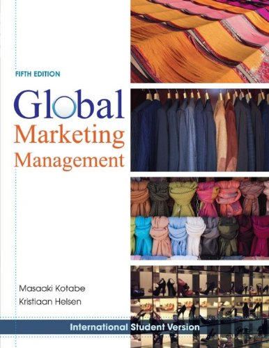 9780470505748: Global Marketing Management