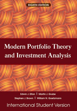 9780470505847: Modern Portfolio Theory and Investment Analysis, Eighth Edition Internation