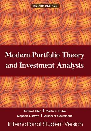 9780470505847: Modern Portfolio Theory and Investment Analysis