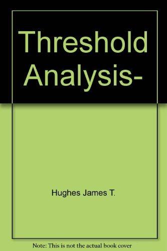 Threshold analysis,: Jurek Kozlowski