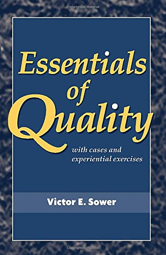 9780470509593: Essentials of Quality with Cases and Experiential Exercises