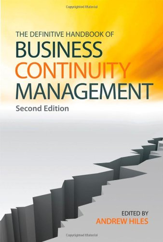 9780470516386: The Definitive Handbook of Business Continuity Management