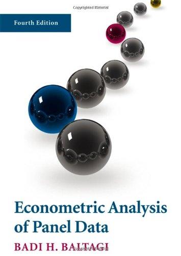 9780470518861: Econometric Analysis of Panel Data