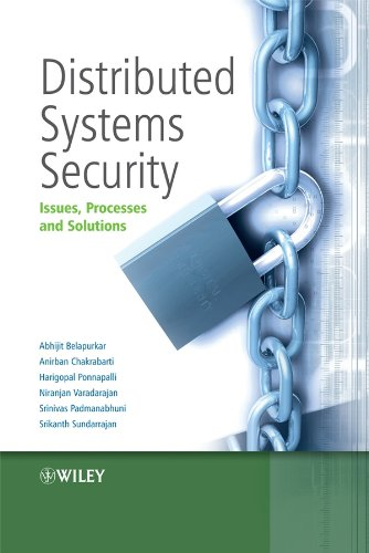 Distributed Systems Security: Issues, Processes and Solutions: Abhijit Belapurkar, Anirban