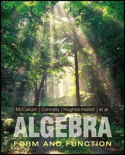 9780470521434: Algebra: Form and Function
