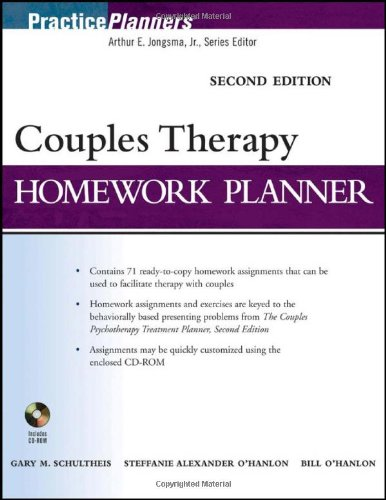 9780470522660: Couples Therapy Homework Planner