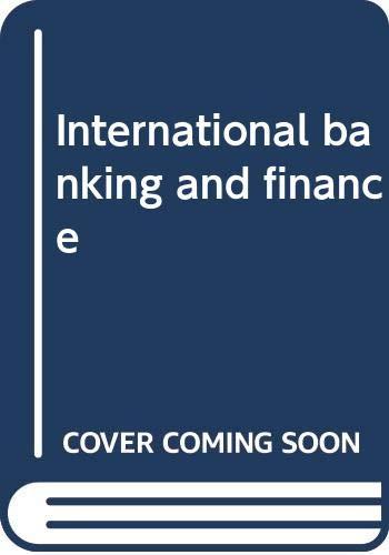 9780470522738: International banking and finance