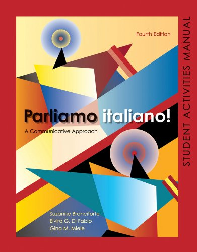 9780470526804: Parliamo italiano 4th Edition Activities Manual: Activities Manual and Lab Audio