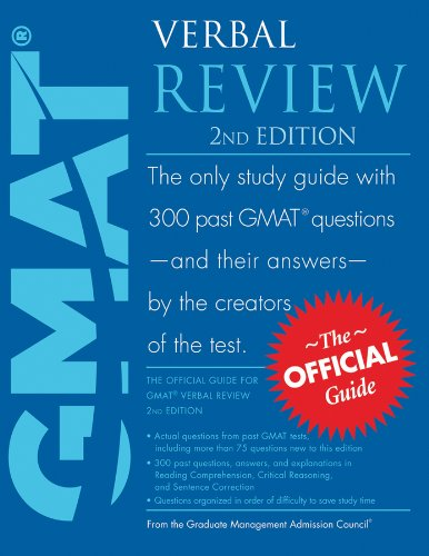 9780470527207: The Official Guide for Gmat Verbal Review