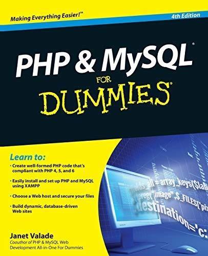 9780470527580: PHP & MySQL For Dummies, 4th Edition
